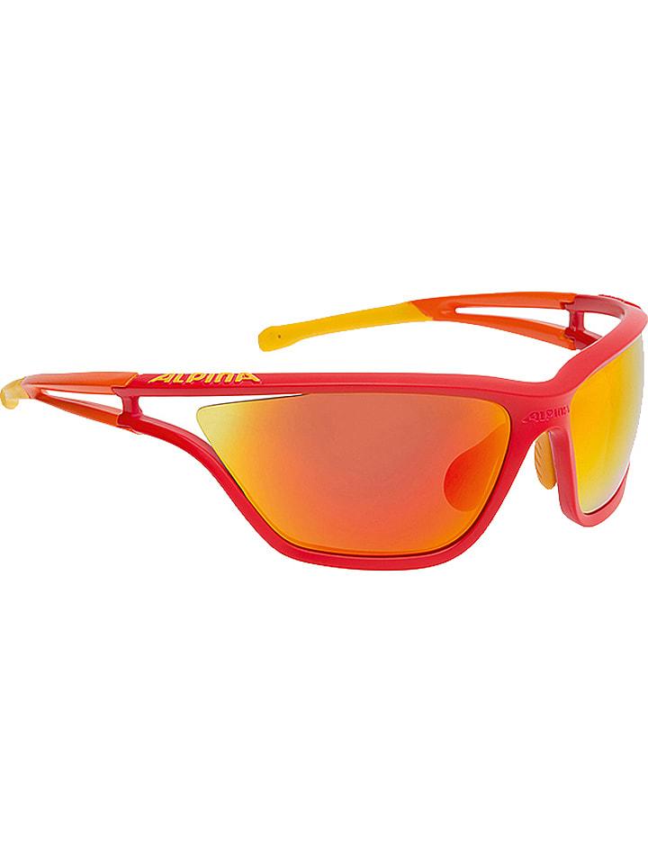 """Alpina Okulary sportowe unisex """"Eye-5 CM+"""" w kolorze czerwono-pomarańczowo-żółtym"""