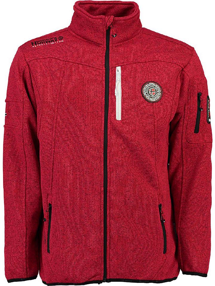 """Geographical Norway Bluza polarowa """"Upshot"""" w kolorze czerwonym"""