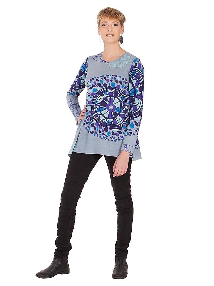 Aller Simplement Shirt in Grau/ Blau