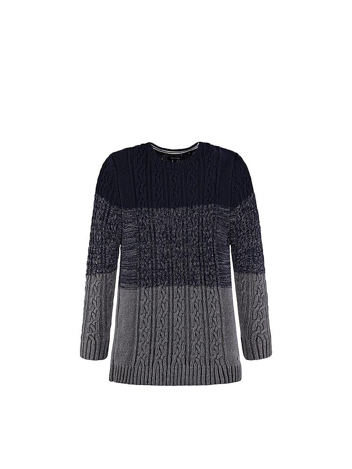 Marc O'Polo Junior Sweter w kolorze szaro-czarnym