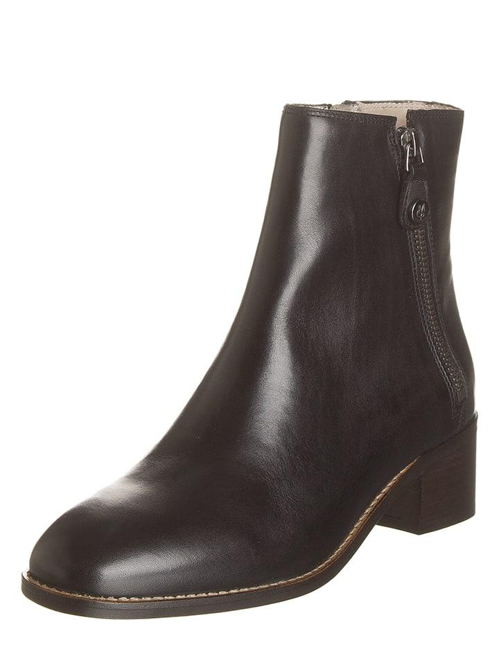 Marc O'Polo Shoes Leren enkellaarzen zwart
