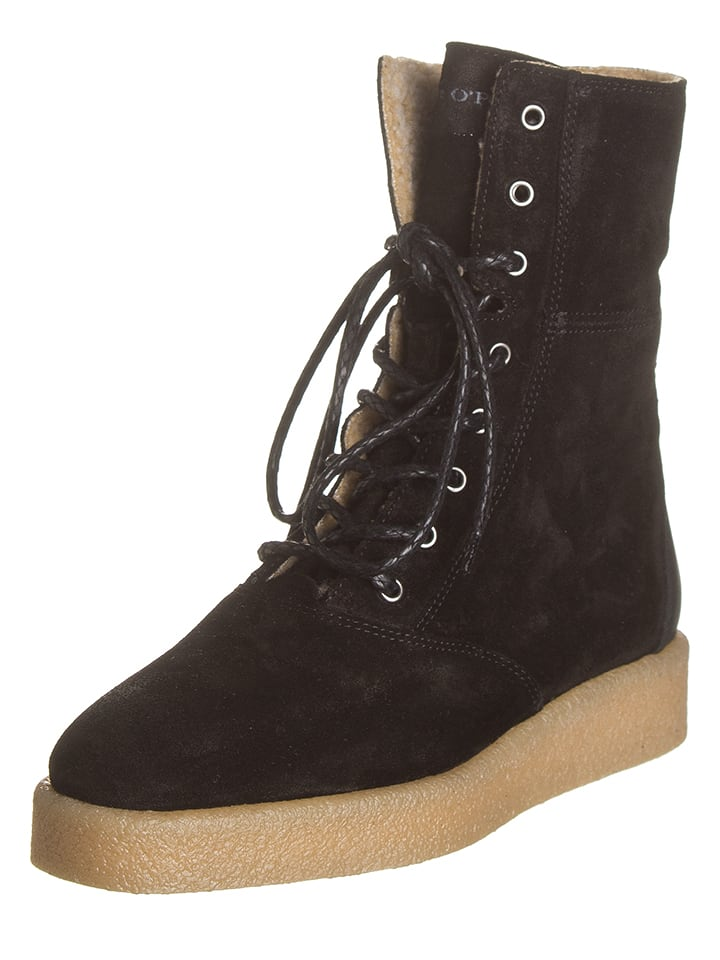 Marc O'Polo Shoes Leren boots zwart