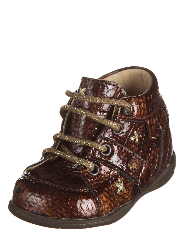 """Little Mary Skórzane buty """"Tafia Lim"""" w kolorze brązowym do nauki chodzenia"""