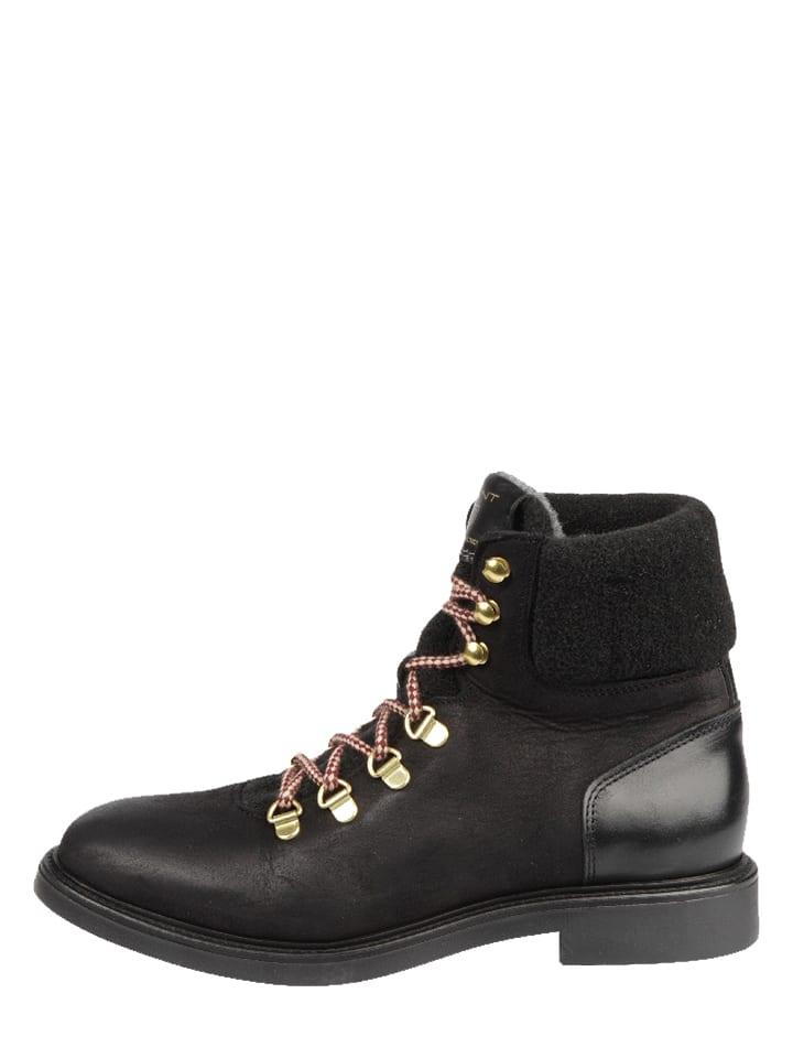 "GANT Footwear Leder-Boots ""Ashley"" in Schwarz"