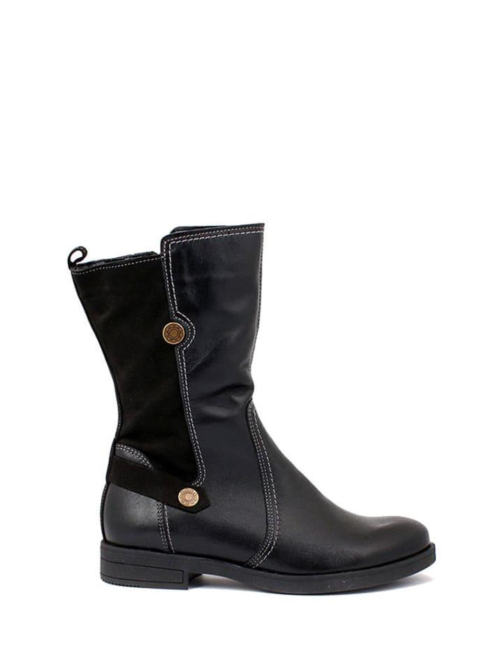 Zapato Leder-Stiefel in Schwarz