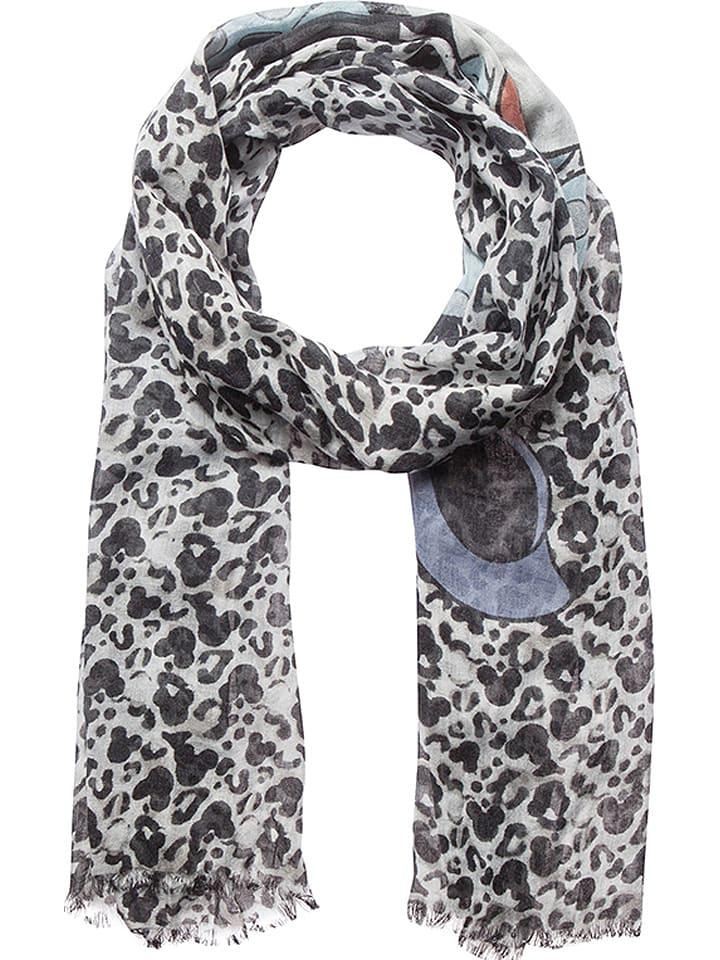 """Codello Szal """"Disney"""" w kolorze biało-czarno-błękitnym - 190 x 70 cm"""