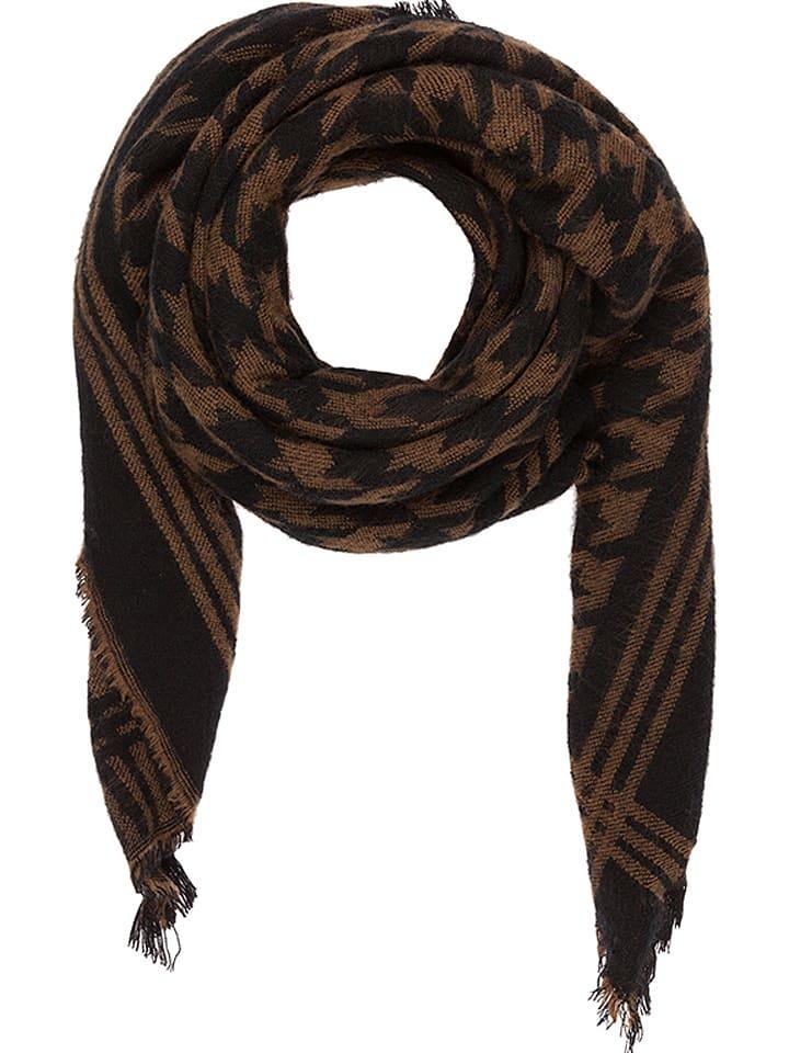 Codello Chusta w kolorze brązowo-czarnym - 140 x 140 cm