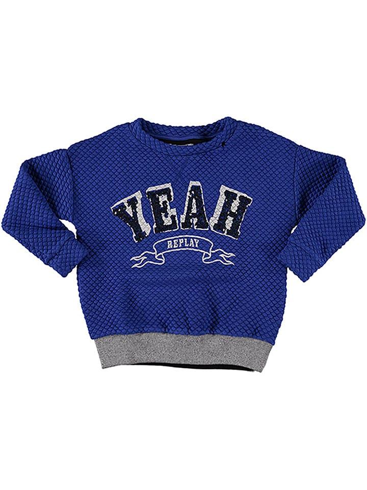 Replay & Sons Bluza w kolorze niebieskim