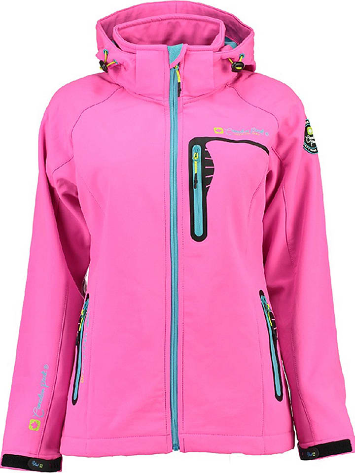 "Canadian Peak Veste softshell ""Taxor"" - rose vif"