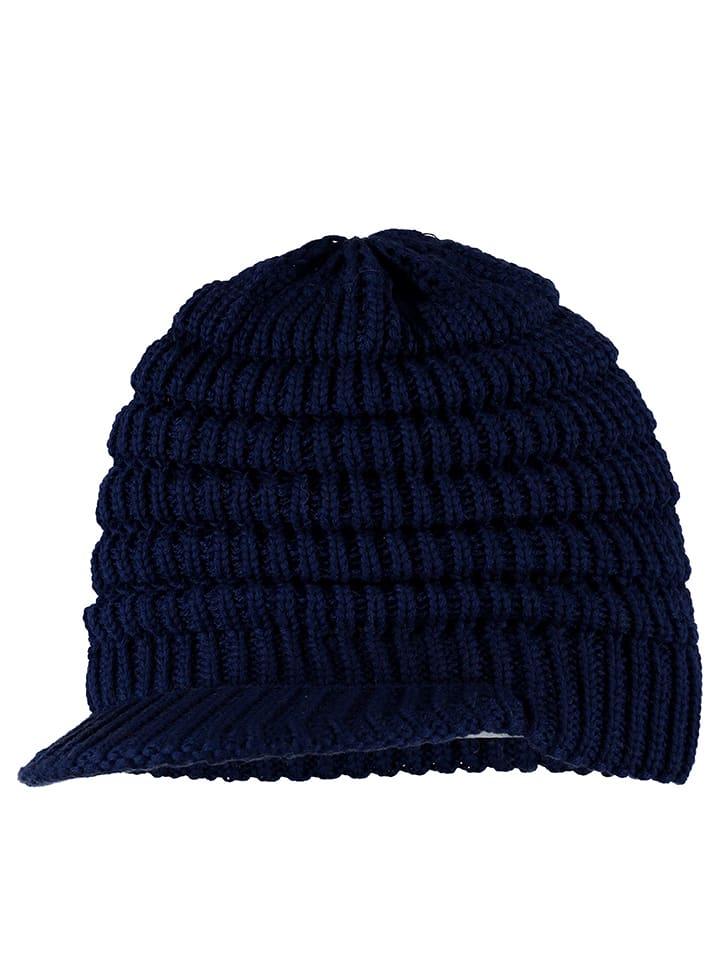 """Eisbär Dzianinowa czapka """"Flair"""" w kolorze niebieskim"""