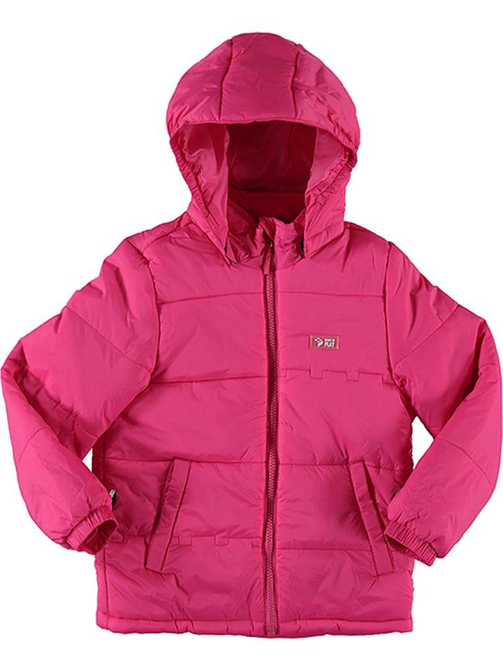 """Legowear Kurtka zimowa """"Jazz 635"""" w kolorze jaskraworóżowym"""
