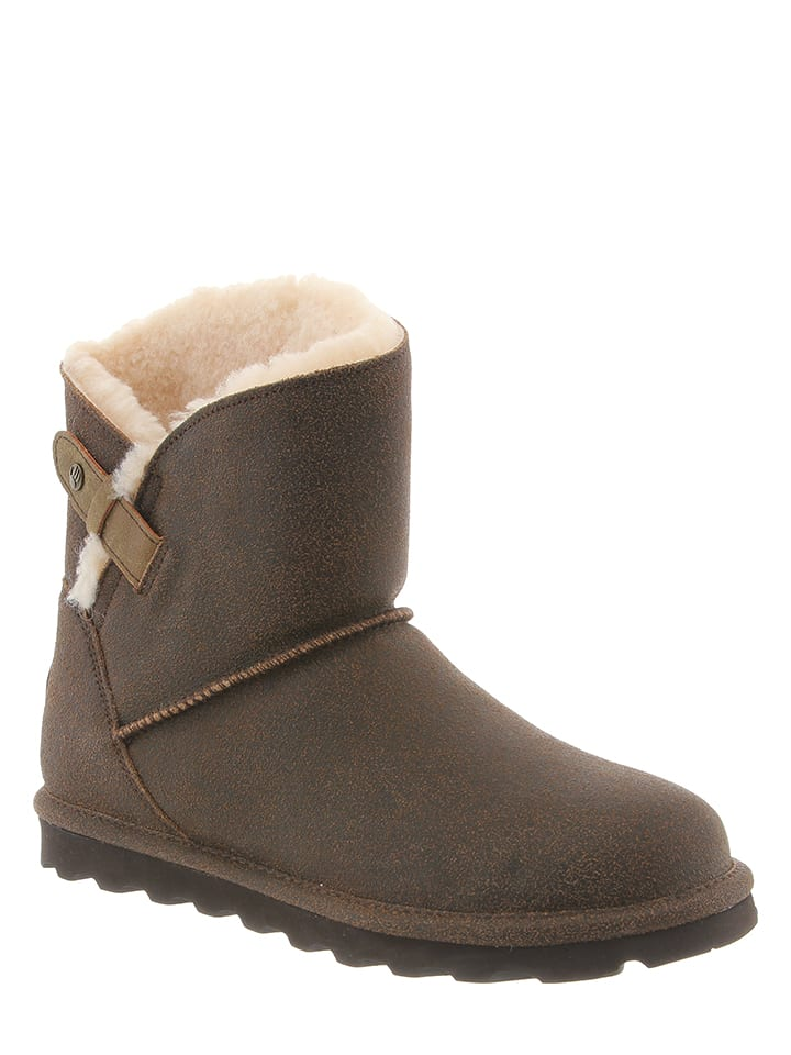 "Bearpaw Leder-Boots ""Margaery"" in Braun"