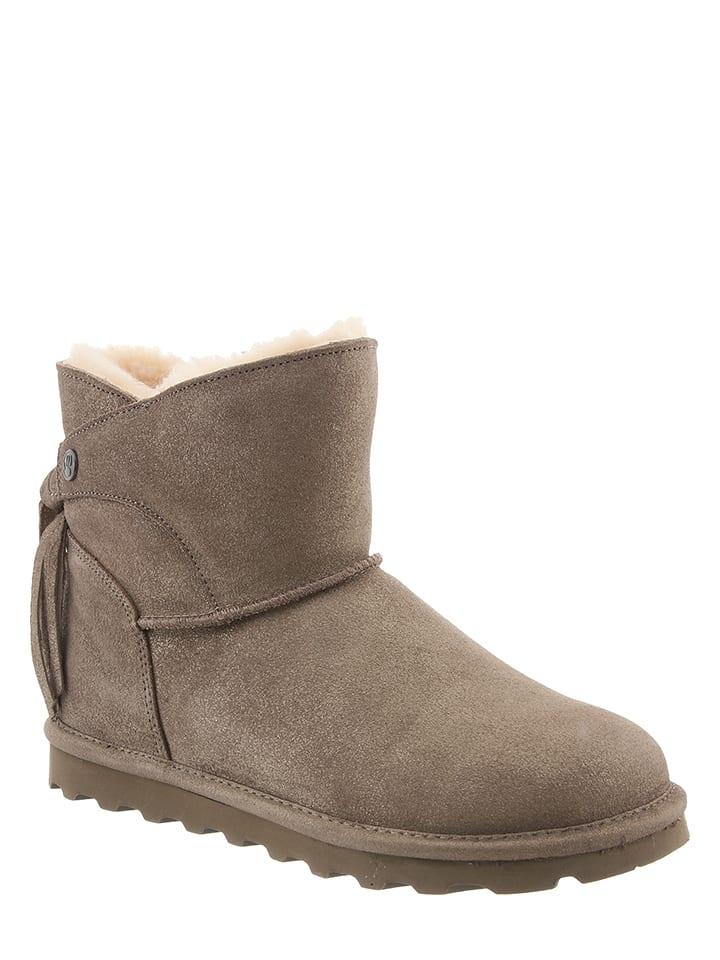 """Bearpaw Leder-Boots """"Natalia"""" in Beige/Gold"""