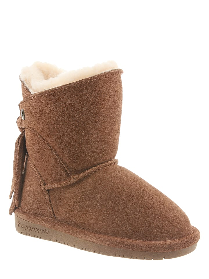 "Bearpaw Leder-Boots ""Mia"" in Hellbraun"