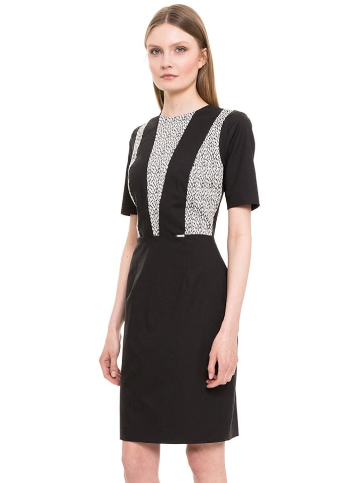 Simple Sukienka w kolorze czarno-białym