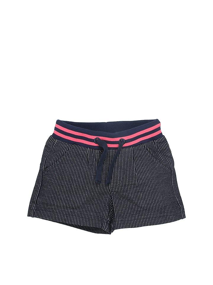 Moodstreet Shorts in Dunkelblau/ Pink