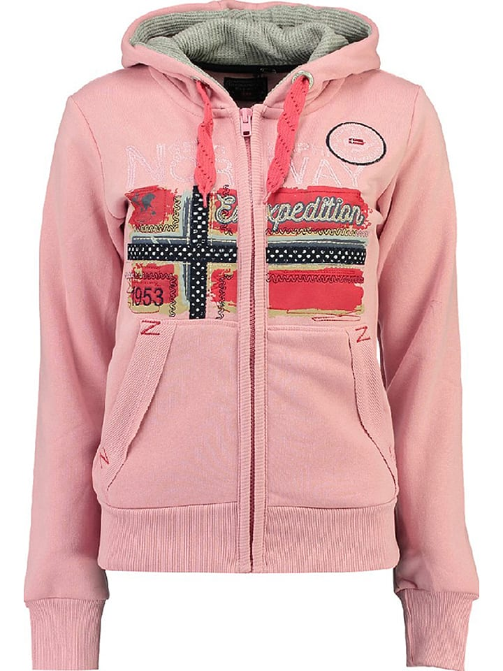 """Geographical Norway Sweatjacke """"Farlotte"""" in Rosa"""