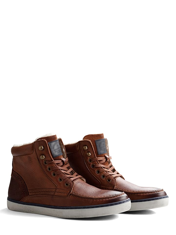 """TRAVELIN' Skórzane sneakersy """"Kallax"""" w kolorze jasnobrązowym"""