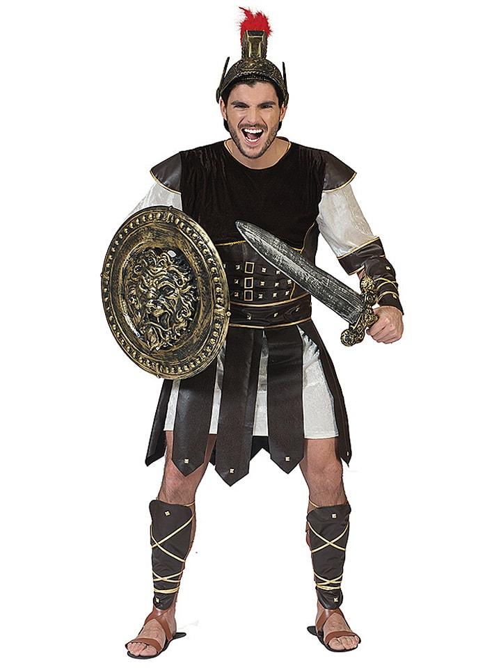 """Funny Fashion 3-częściowy kostium """"Warrior Crixo"""" w kolorze czarnym"""