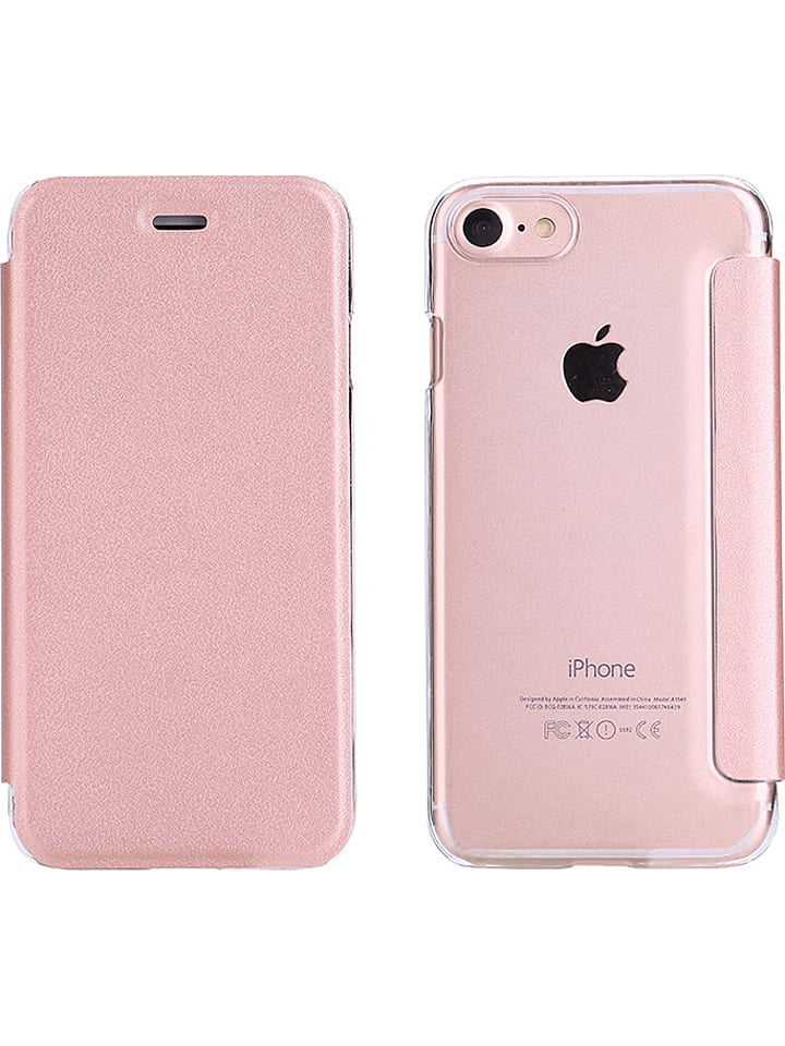 WHIPEARL Flip case w kolorze jasnoróżowym do iPhone 7/ 8