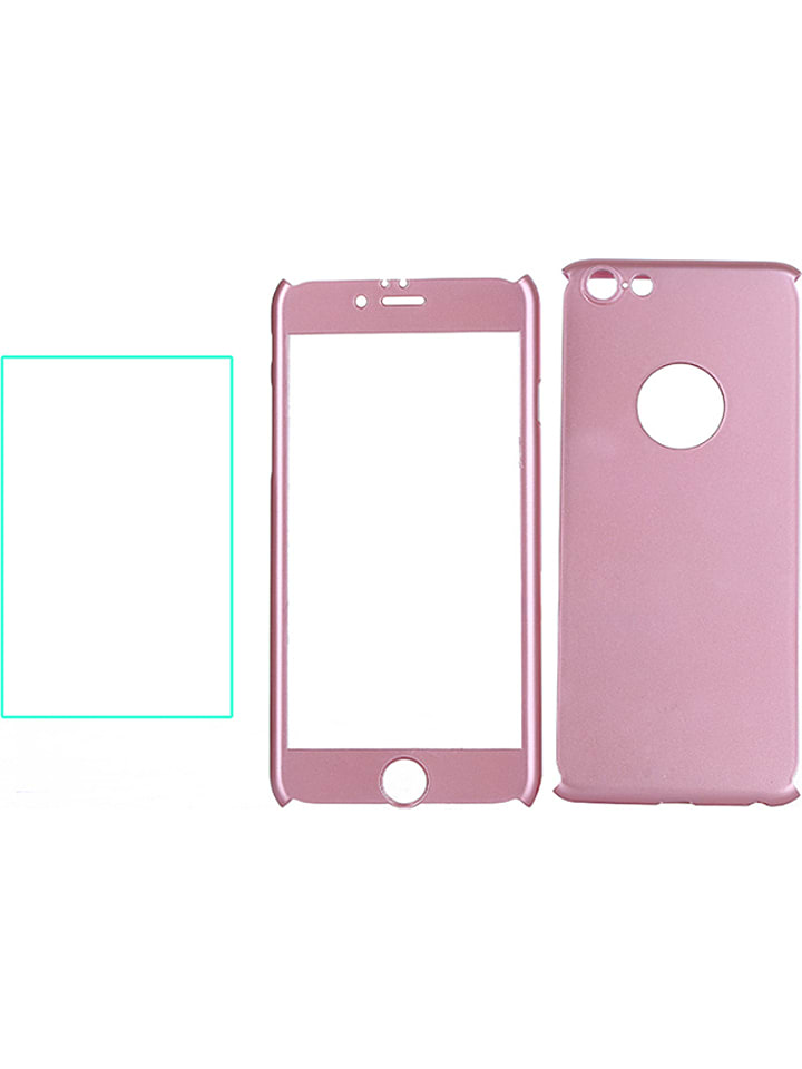 WHIPEARL Full Body Case w kolorze jasnoróżowym do iPhone 6/ 6S