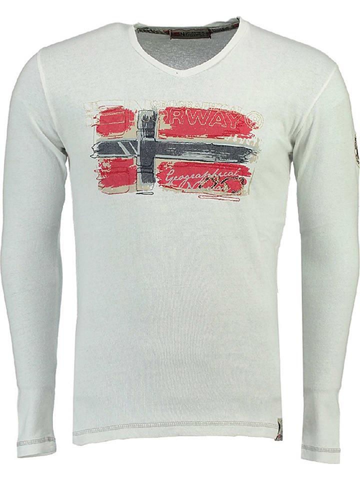 """Geographical Norway Koszulka """"Jacolino"""" w kolorze białym"""