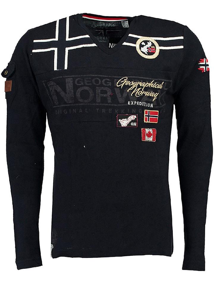 """Geographical Norway Koszulka """"Jaradock"""" w kolorze granatowym"""