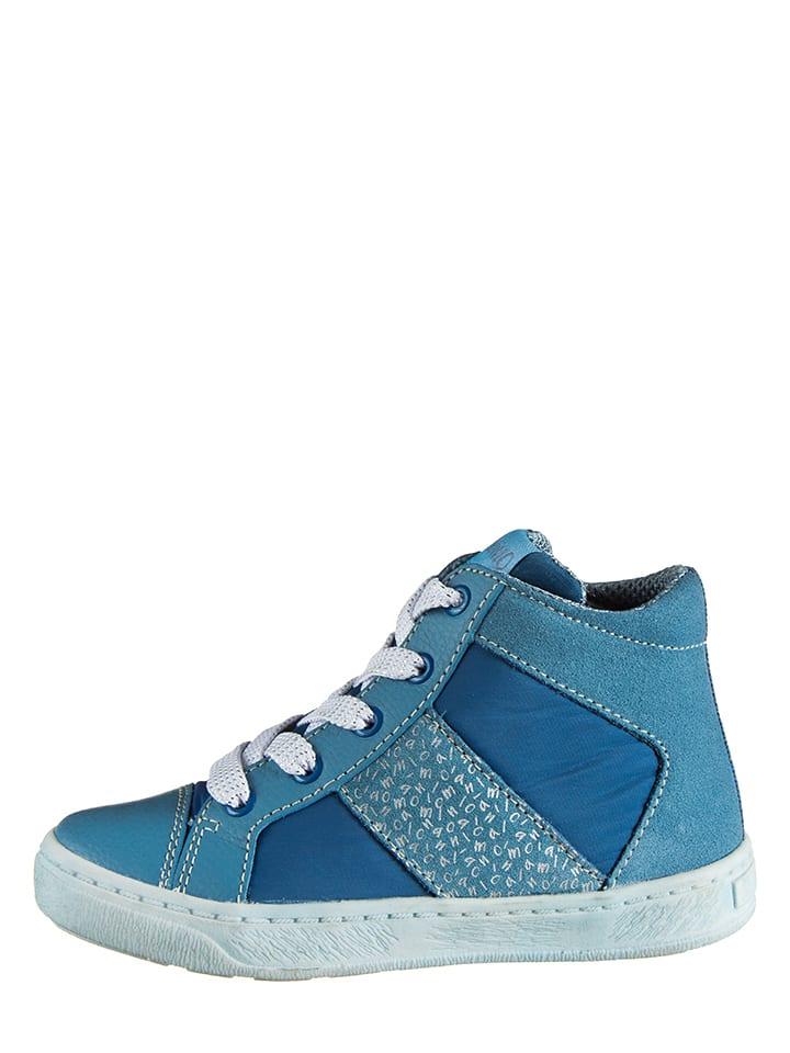 Lamino Skórzane sneakersy w kolorze niebieskim