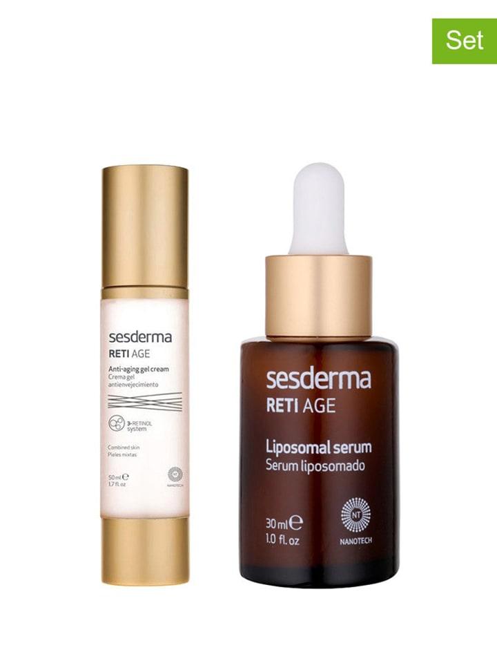 SESDERMA 2-częściowy zestaw - krem-żel do twarzy, serum do twarzy