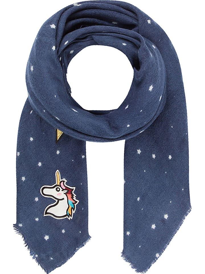 Codello Chusta w kolorze niebieskim ze wzorem - 140 x 140 cm