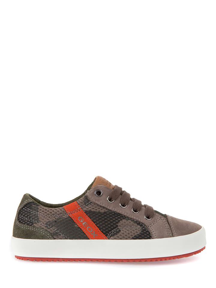 """Geox Sneakersy """"Alonisso"""" w kolorze szarobrązowym"""