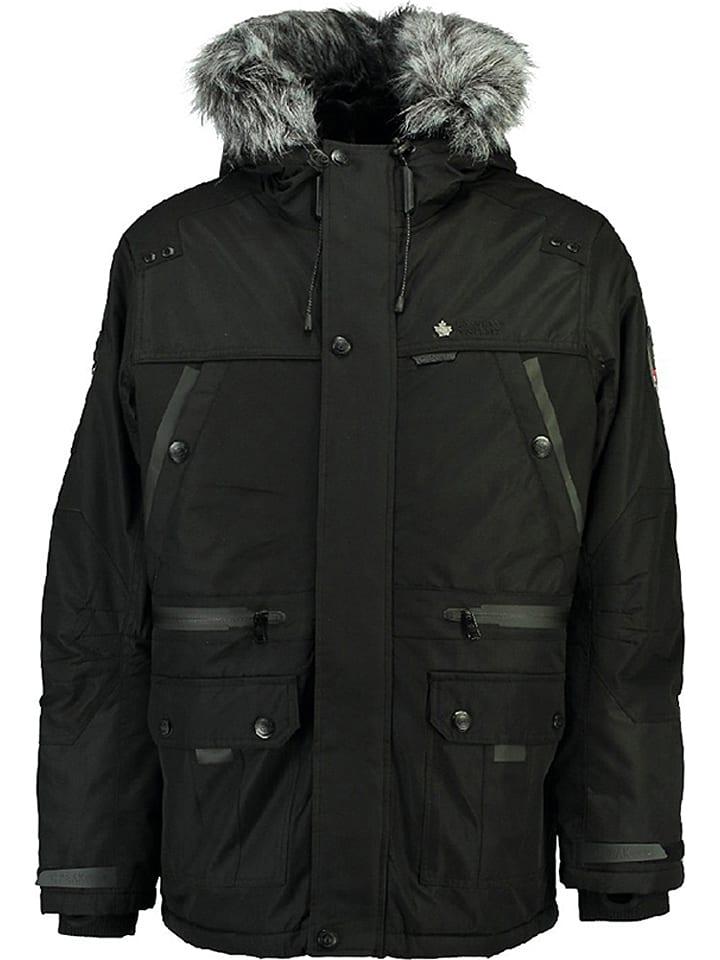 """Canadian Peak Kurtka zimowa """"Botex"""" w kolorze czarnym"""