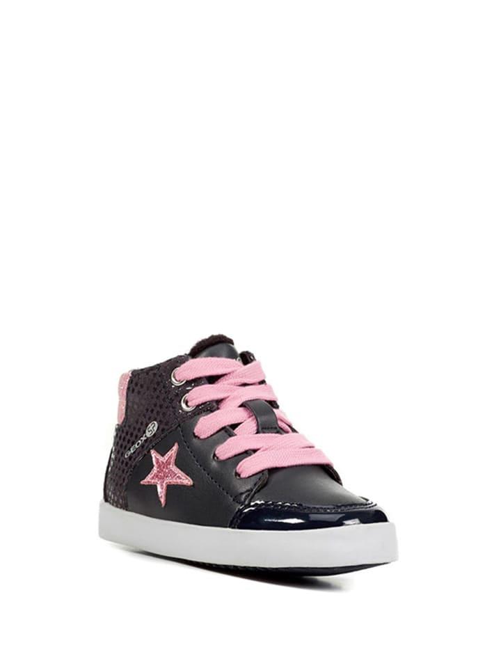 Geox Sneakersy w kolorze jasnoróżowo-granatowym