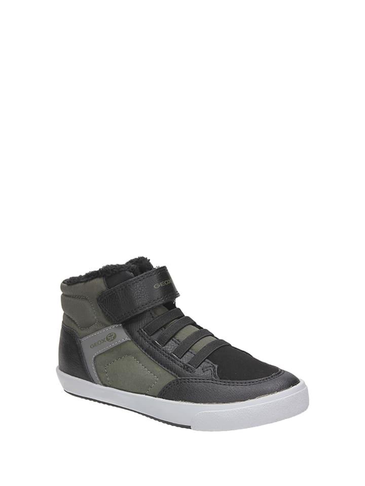 Geox Sneakersy w kolorze czarno-zielono-szarym