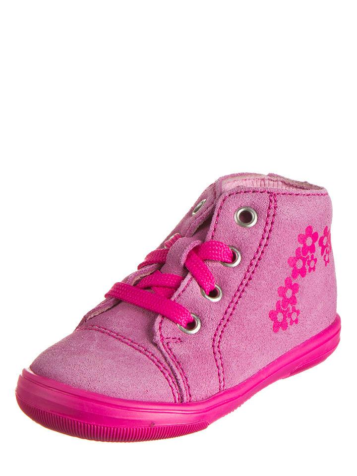 Richter Shoes Skórzane sneakersy w kolorze fuksji