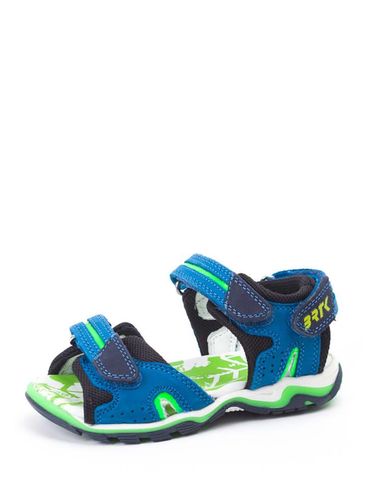 Bartek Sandały w kolorze niebiesko-czarno-zielonym