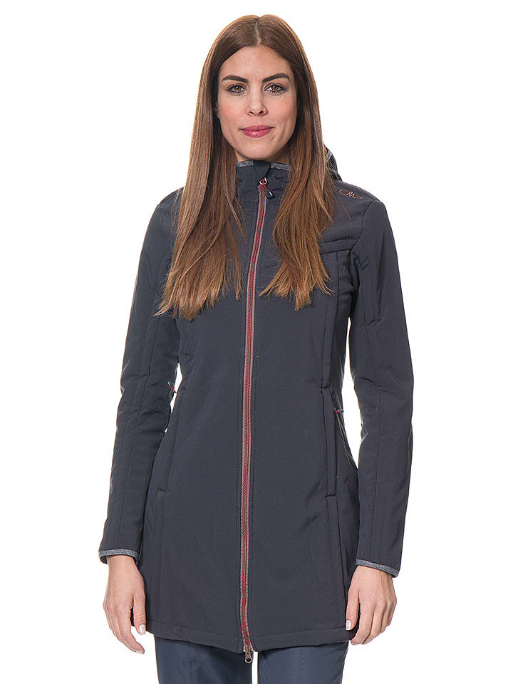 CMP Funktionsmantel in Anthrazit - 70% | Größe 36 | Damen outdoorjacken