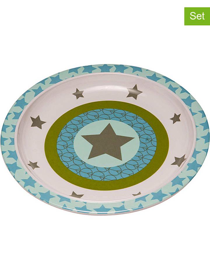 "Lässig Talerze (2 szt.) ""Starlight"" w kolorze oliwkowym - Ø 21 cm"