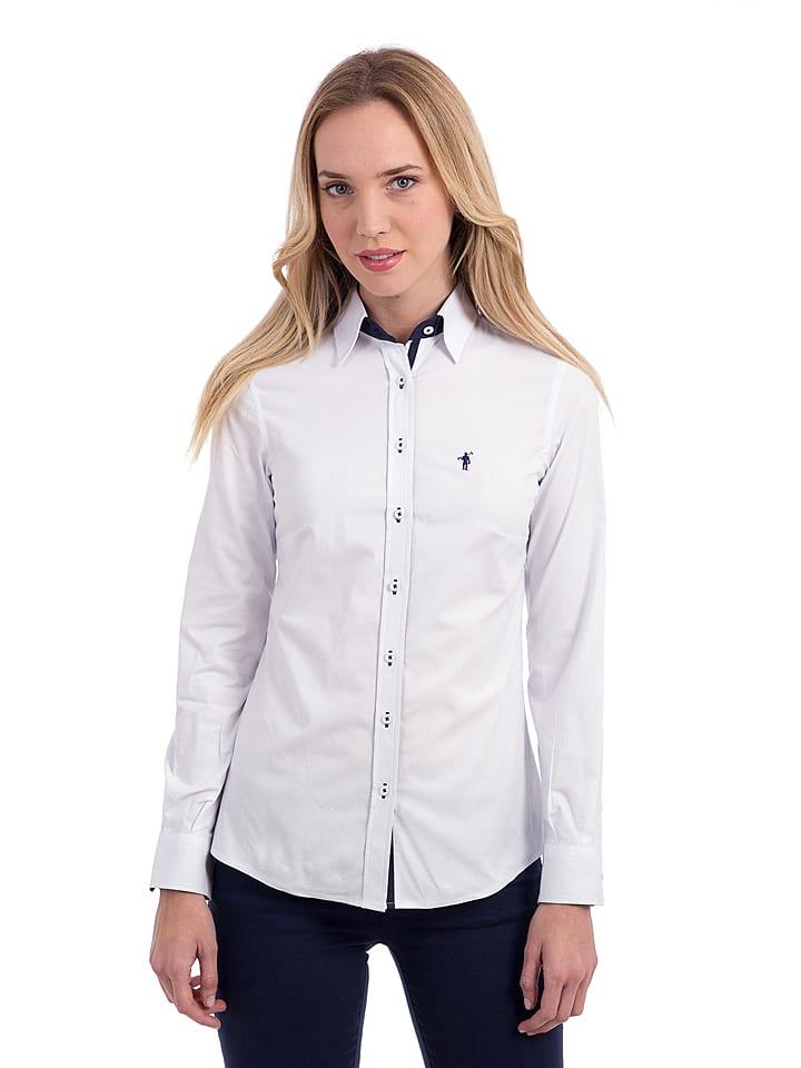 Polo Club Bluzka w kolorze białym