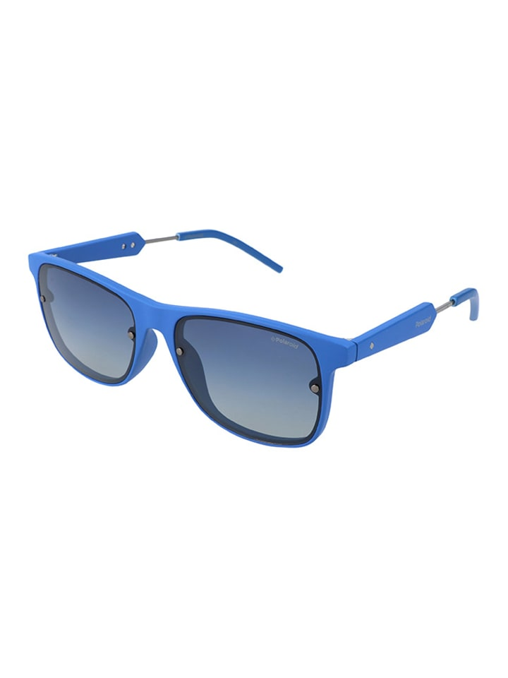 Polaroid Męskie okulary przeciwsłoneczne w kolorze niebieskim