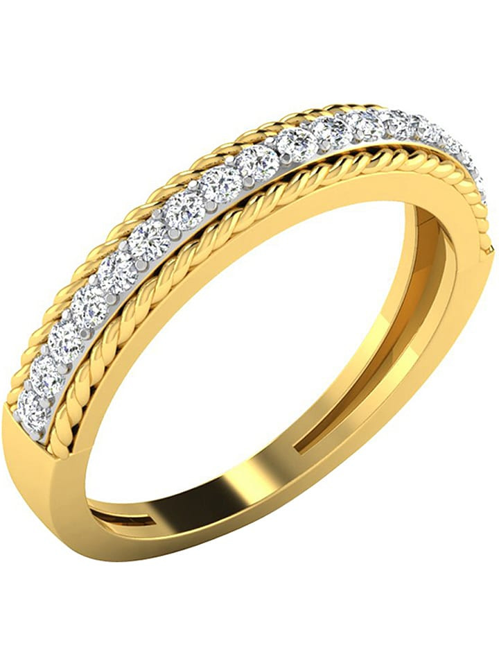 Art of Diamond Złoty pierścionek z diamentami