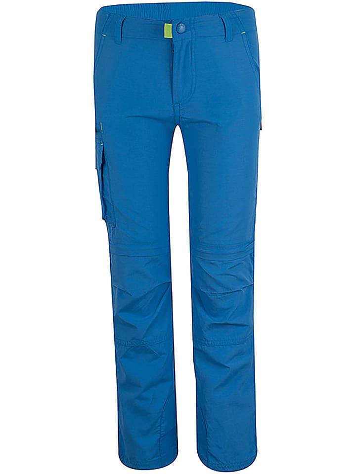 """Trollkids Zipp-Off-Trekkinghose """"Oppland"""" - Slim fit - in Blau"""