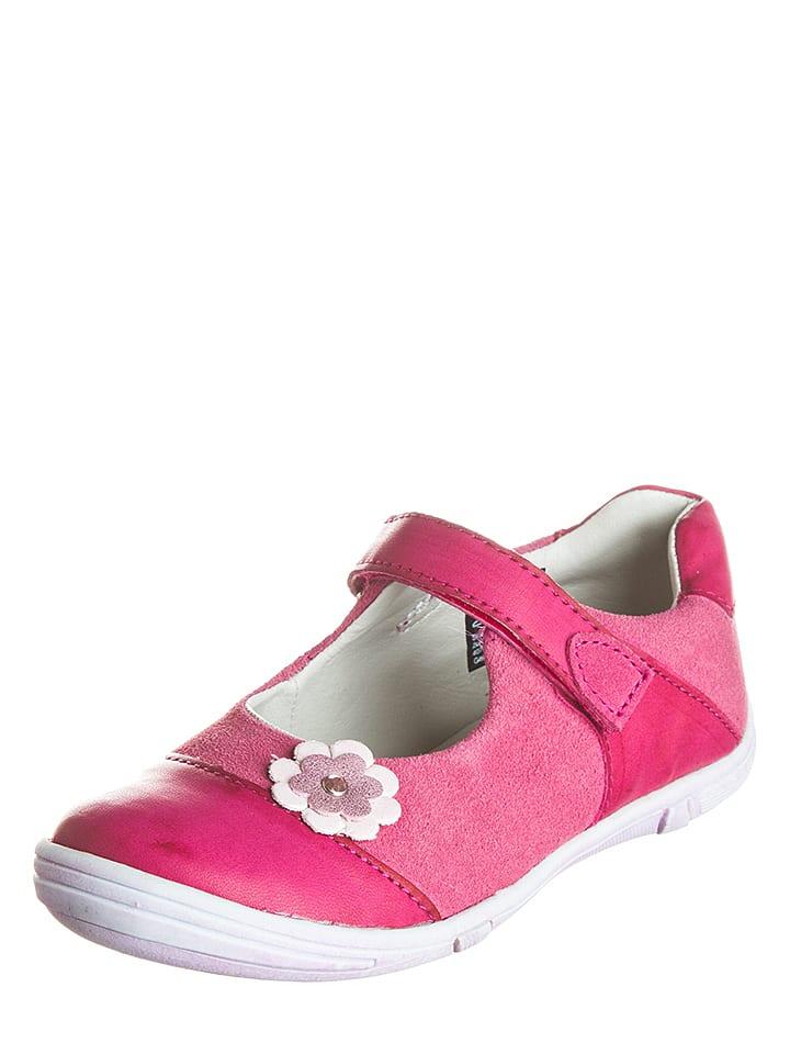 """Lurchi Baleriny """"Ribbi"""" w kolorze różowym z paskiem"""