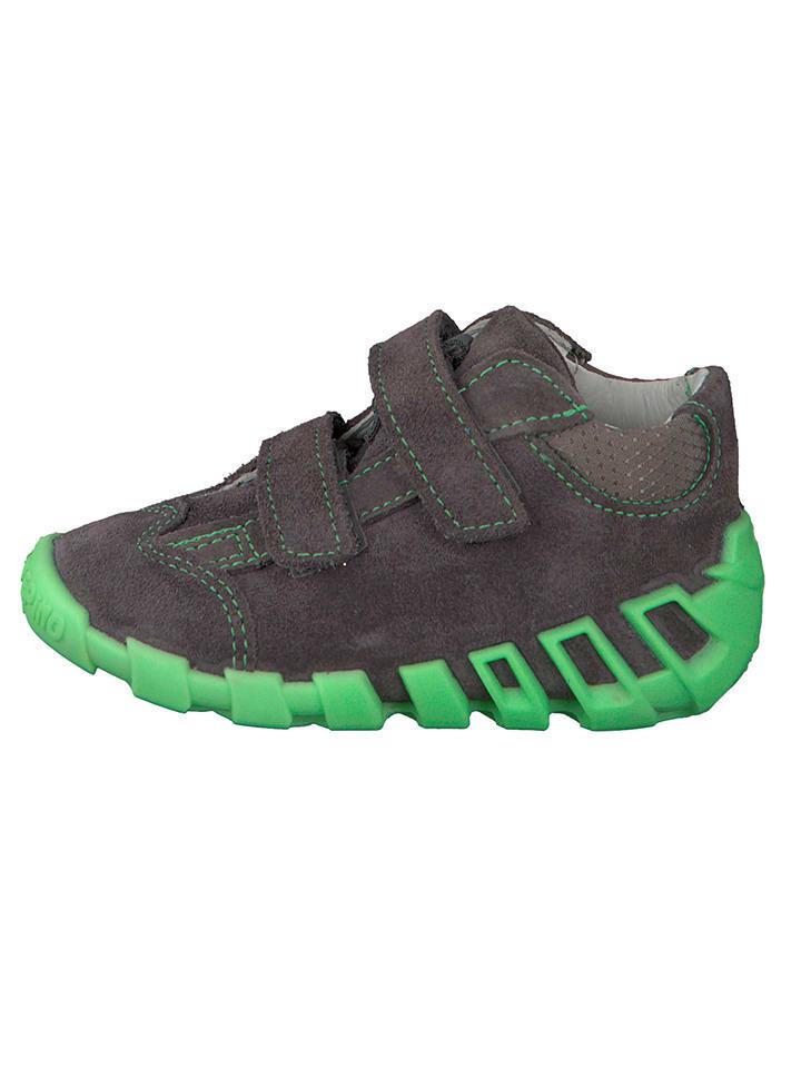 "PEPINO Leder-Sneakers ""Asky"" in Grau"
