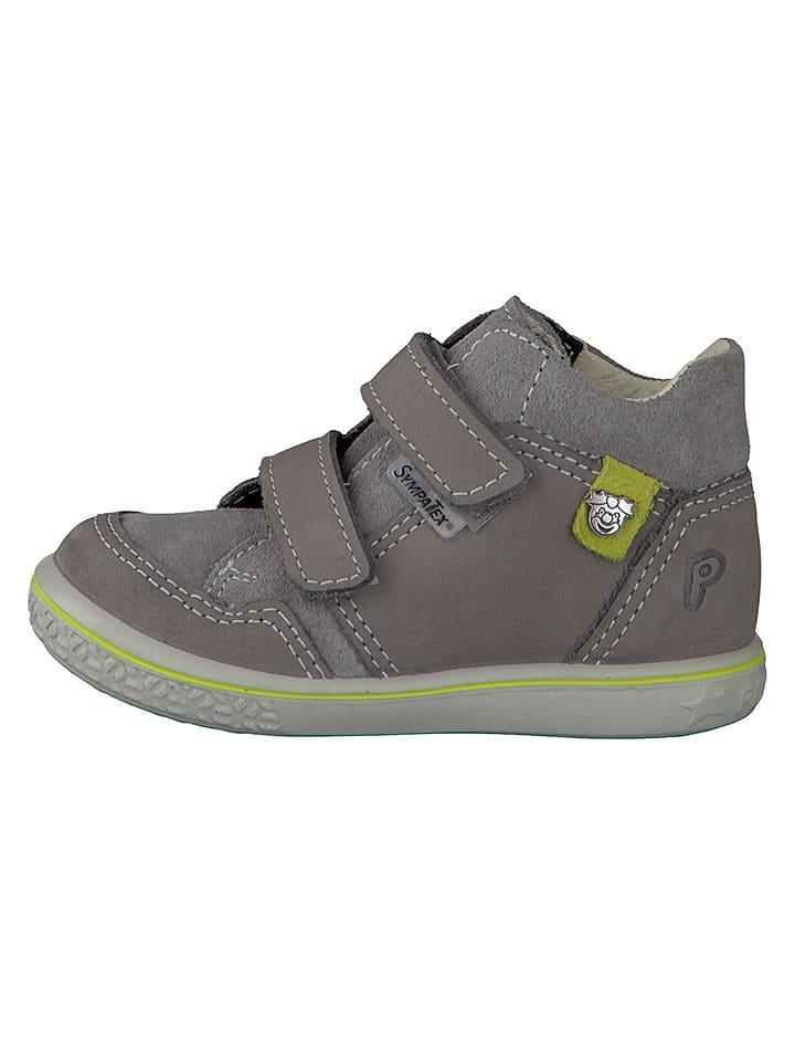 "PEPINO Leder-Sneakers ""Juri"" in Grau"