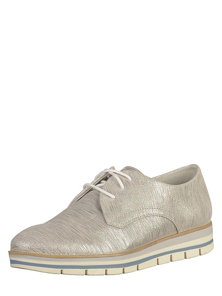 Marco Tozzi - Chaussures à lacets en cuir - argenté   Outlet limango 31d09ae6b5ce