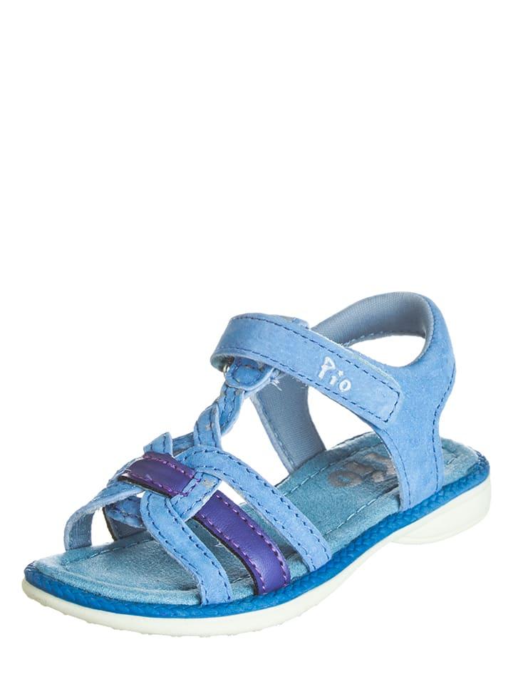 Skórzane sandały w kolorze niebieskim Pio Wyprzedaż w