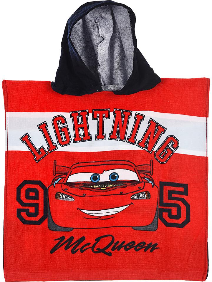 """Disney Cars Ręcznik """"Cars"""" w kolorze czerwonym z kapturem"""