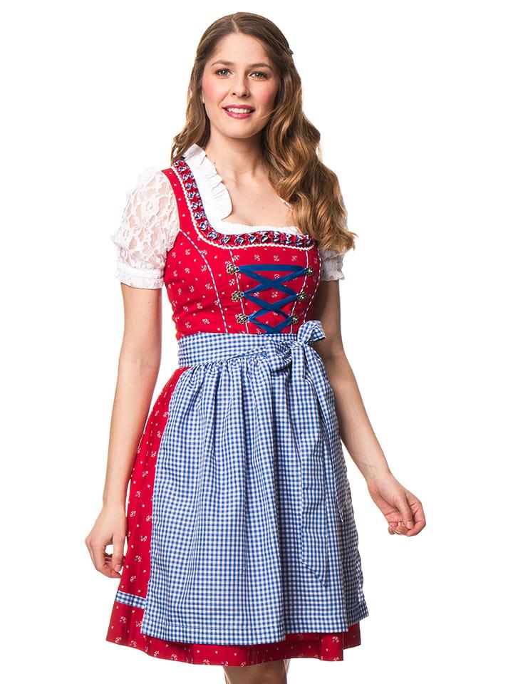"""LEKRA Mini-Dirndl """"Gisi"""" in Rot/ Blau/ Weiß"""