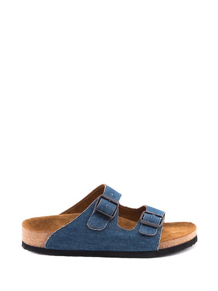 7a4fa05dd8f Comfortfusse - Slippers blauw